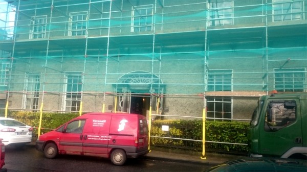 Old bank of Ireland, Westport, Co Mayo. Timber treatment by Tirconaill Damp Proofing, Ireland