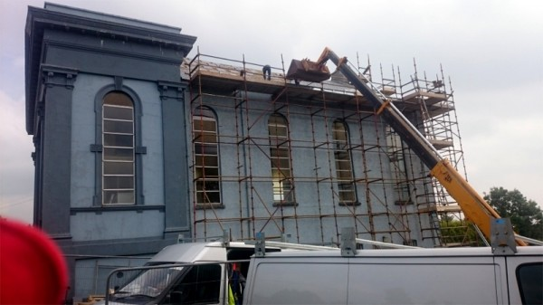 Raphoe Presbyterian Church, Raphoe, Co Donegal. Timber treatment for dry rot and wood worm by Tirconaill Damp Proofing